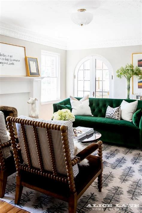 Green Living Room Chair Family Room With Arched Alcove Bookshelf Living Room