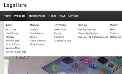 tutorial jquery dropdown menu building a mega navigation menu with css3 and jquery