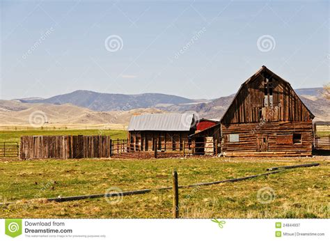 Barn House Plan old barn on a ranch royalty free stock photography image
