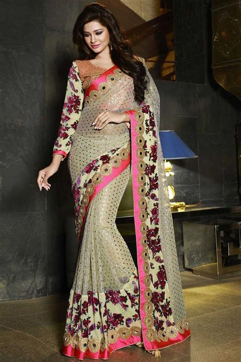 Gaun India Kw 54 80 best wedding saree images on embroidery saree georgette sarees and half saree