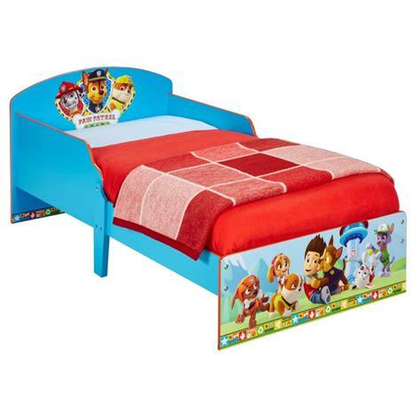 paw patrol bed paw patrol wood bed 70 x 140 cm bainba com