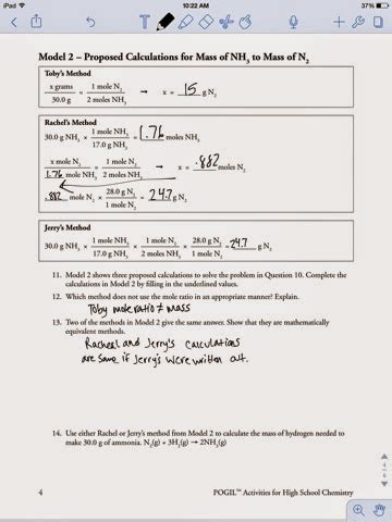 Mole Ratio Worksheet by Mole Ratio Worksheet Chemistry Answers Stinksnthings