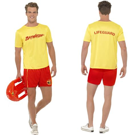 90s fancy dress costumes ebay baywatch fancy dress costume official mens ladies 90s tv