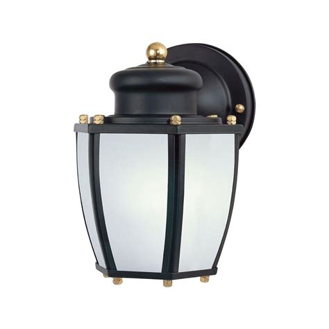 Westinghouse 1 Light Matte Black Steel Outdoor Wall Outdoor To Dusk Lights