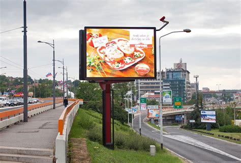 Led Billboard v shaped sided 8 meters high led digital