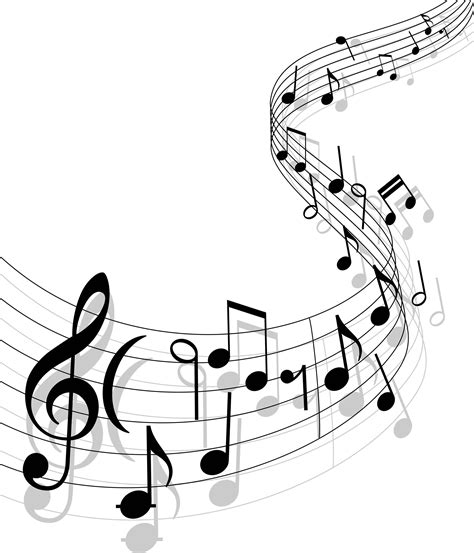 free design music notes with music elements as a musical background design