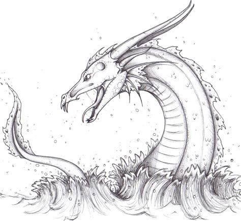 google tattoo design sea serpent drawing search loch ness