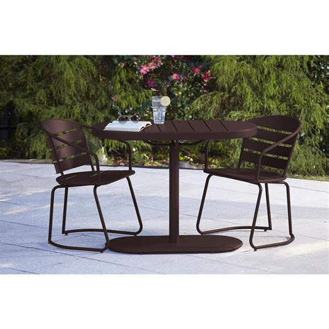 cosco metro brown 3 piece steel patio bistro set 87800sbde