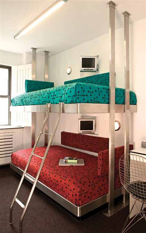 contemporary stainless steel bunk beds  neo metro