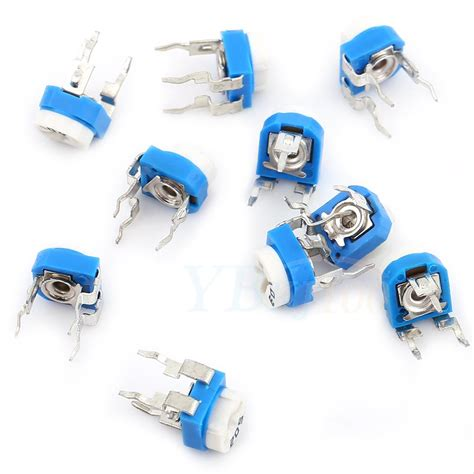 resistor variable box 3 fase 100pcs 10 values ohm potentiometer trimpot variable resistor assortment box kit ebay
