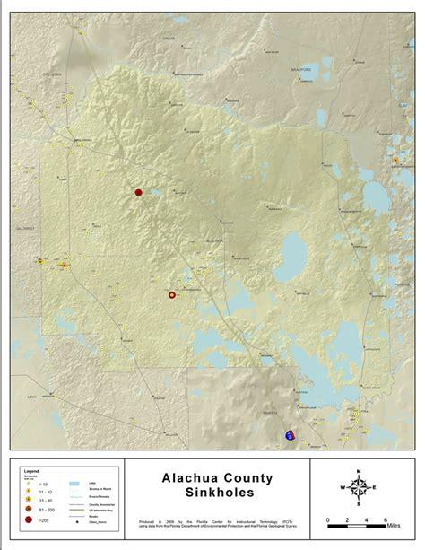 alachua county sinkholes of alachua county florida 2008