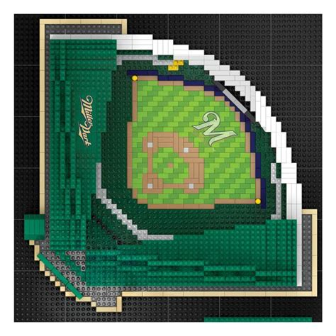 milwaukee brewers miller park mlb  brxlz stadium blocks set