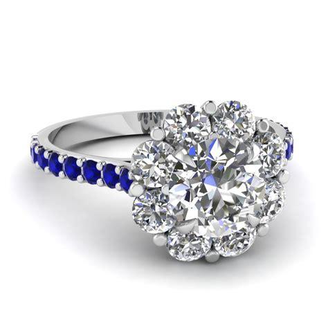 blossom halo ring fascinating diamonds