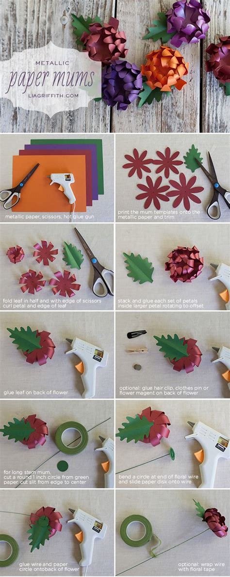 How To Make Paper Mums - paper tutorial for bouquets centerpieces hair