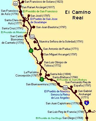 el camino map california highways www cahighways org el camino real