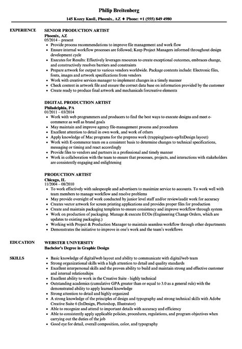 magnificent production artist resume pictures inspiration