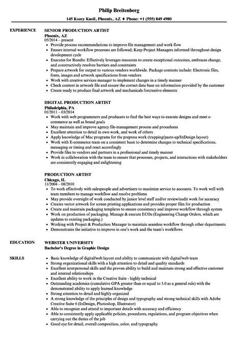 fashioned digital artist resume photo exle resume