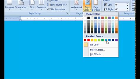 change page color in word change page color microsoft word 2007 coloring pages
