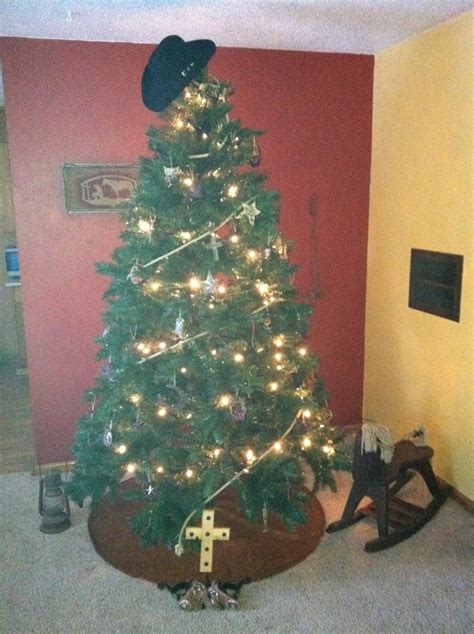 my cowboy christmas tree 2011 cowgirly stuff pinterest