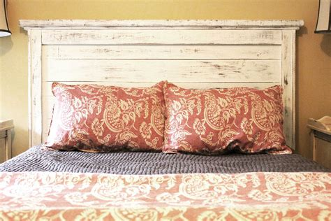 Distressed Wood Headboard King White Distressed Bed Sides And Slats By Goodmanbm