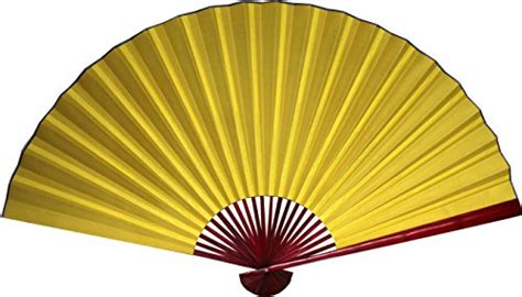 60 folding wall fan large 60 quot folding wall fan yellow with bamboo