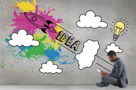 Businessman Sitting With Creative Illustration Photo Creative Free