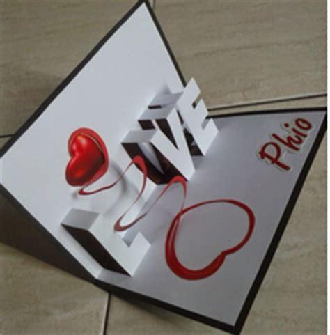 cara membuat kartu ucapan popup cara membuat kartu ucapan pop up anniversary valentine