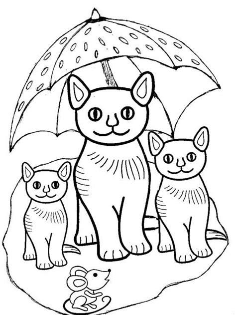 Katzen 20   Ausmalbilder