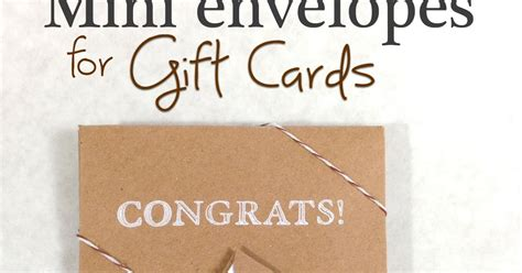 How To Clone Gift Cards - 365 designs how to make mini envelopes for gift cards using martha stewart crafts