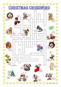 christmas crossword key worksheet free esl printable