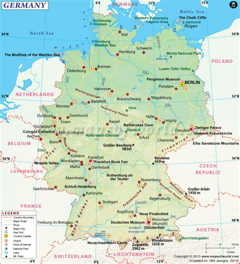 germany maps germany travel guide travel map of germany