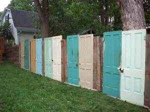 Projects to ponder fences made of old doors the doodle house