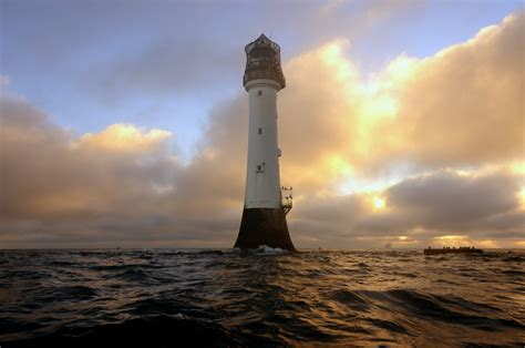 Light Year Miles by Winter Sunrise At The Bell Rock Lighthouse 12 Miles Off O