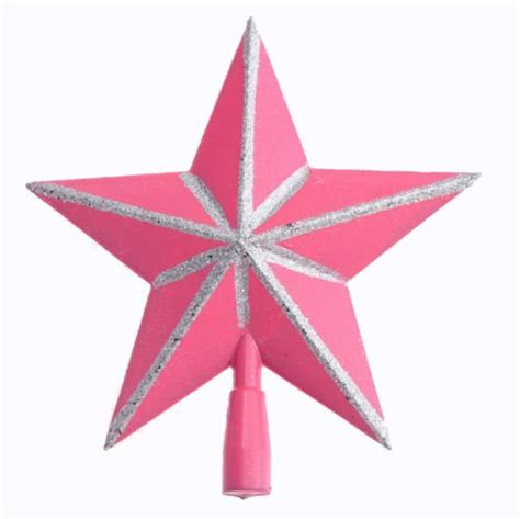 pink christmas tree toppers
