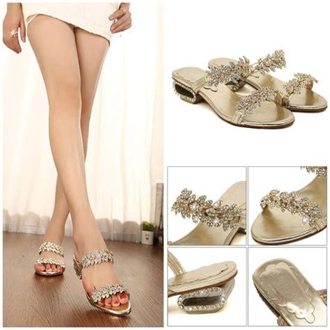 Sendal Sepatu Wanita High Heels Gold 7cm jual shs5262 gold sepatu wanita elegan 3cm grosirimpor