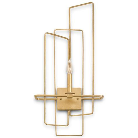 Modern Brass Sconce Rittenhouse Modern Brass Right Facing Sconce Kathy Kuo Home