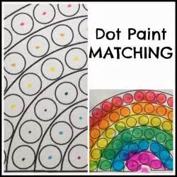 toddler dot paint activity rainbow theme preschool paint color matching dot paint matching