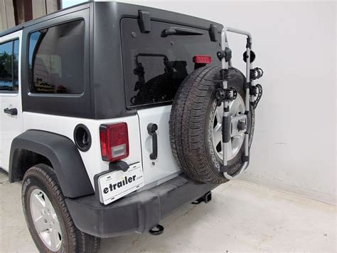 Snowboard Rack For Jeep Wrangler Jeep Wrangler Unlimited Thule Spare Me 2 Bike Rack Spare