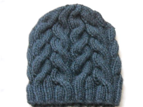 how to knit easy cable knit hat pattern a knitting
