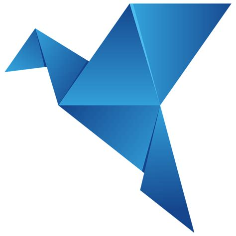Origami Bird Logo - darmo grafika wektorowa logo origami ptak lata艸