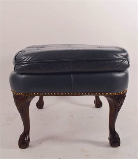 ottoman legs for sale denim leather ottoman footstool with cabriole legs for