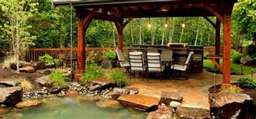 How To Design A Backyard On A Budget Suburban Backyard Oasis Alderwood Landscaping