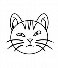 coloring page of a cat face cat face coloring child coloring