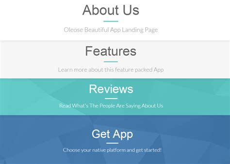 bootstrap themes oleose oleaose responsive app landing page