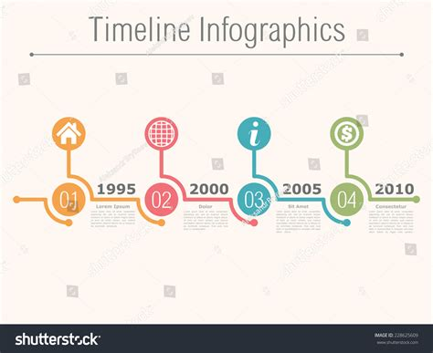 numbers timeline template timeline infographics design template with numbers icons