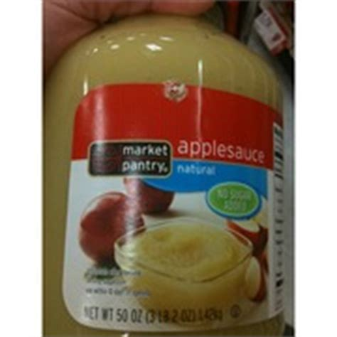 Market Pantry Applesauce by Market Pantry Applesauce No Sugar Added Calories Nutrition Analysis More Fooducate
