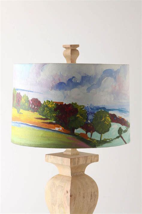 hand painted lamp shade    creative