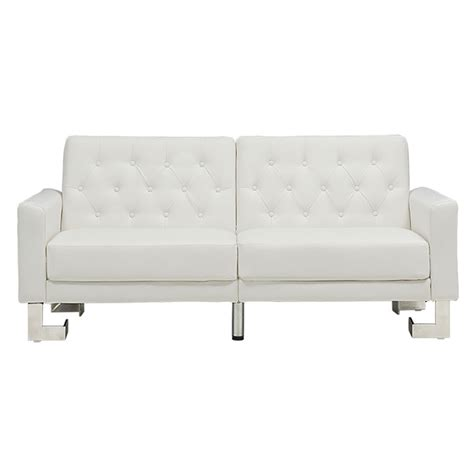 White Sleeper Sofa Modern Sofas Mariner Modern White Sofa Sleeper Eurway