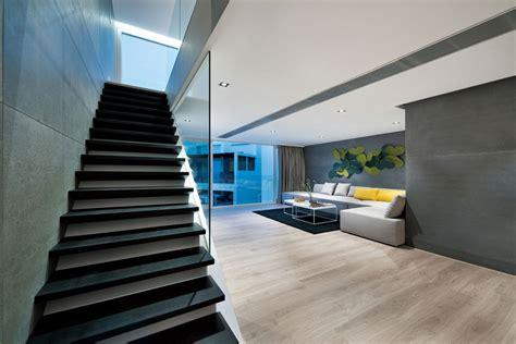 modern home design hong kong split degree hong kong home centered all around a red