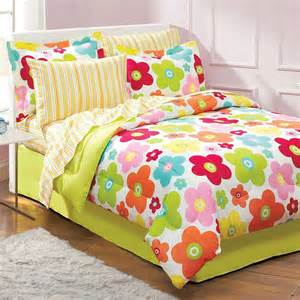 floral daisy bedding set 6pc flowers comforter set twin bed